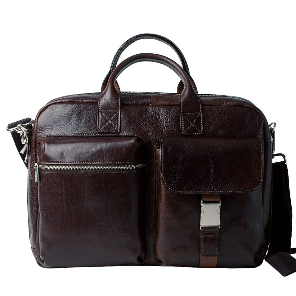 085e95edee74 Full grain Leather briefcase Chiarugi by Original Tuscany Made in Italy